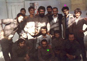 شهید سید حسن میررضوی و شهید آینه دار نشسته