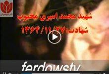 Photo of پیکر شهید محمد امیری محبوب + فیلم